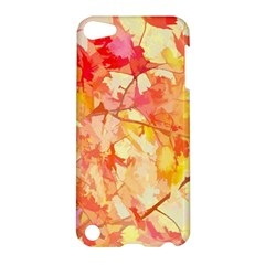 Monotype Art Pattern Leaves Colored Autumn Apple Ipod Touch 5 Hardshell Case by Amaryn4rt