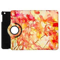 Monotype Art Pattern Leaves Colored Autumn Apple Ipad Mini Flip 360 Case by Amaryn4rt