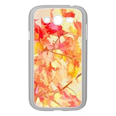 Monotype Art Pattern Leaves Colored Autumn Samsung Galaxy Grand Duos I9082 Case (white) by Amaryn4rt