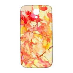 Monotype Art Pattern Leaves Colored Autumn Samsung Galaxy S4 I9500/i9505  Hardshell Back Case