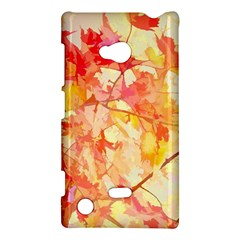 Monotype Art Pattern Leaves Colored Autumn Nokia Lumia 720 by Amaryn4rt