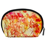 Monotype Art Pattern Leaves Colored Autumn Accessory Pouches (Large)  Back
