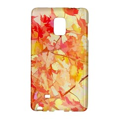 Monotype Art Pattern Leaves Colored Autumn Galaxy Note Edge by Amaryn4rt