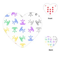 Rainbow Clown Pattern Playing Cards (heart)