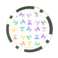 Rainbow Clown Pattern Poker Chip Card Guards (10 pack)  by Amaryn4rt