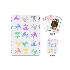 Rainbow Clown Pattern Playing Cards (mini)