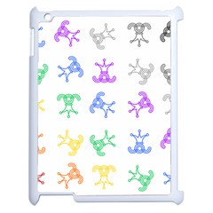 Rainbow Clown Pattern Apple Ipad 2 Case (white)
