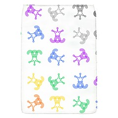 Rainbow Clown Pattern Flap Covers (s)