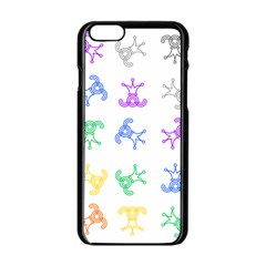 Rainbow Clown Pattern Apple Iphone 6/6s Black Enamel Case
