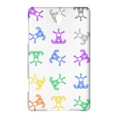 Rainbow Clown Pattern Samsung Galaxy Tab S (8 4 ) Hardshell Case