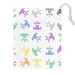Rainbow Clown Pattern Drawstring Pouches (xxl)
