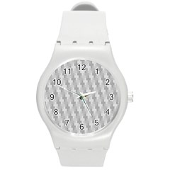 Abstract Pattern Round Plastic Sport Watch (m)