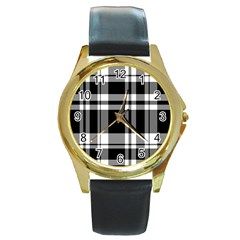 Black Round Gold Metal Watch by AnjaniArt