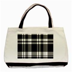 Black Basic Tote Bag by AnjaniArt