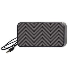 Background Gray Zig Zag Chevron Portable Speaker (black)  by AnjaniArt
