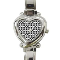 Background Pattern Heart Italian Charm Watch by AnjaniArt
