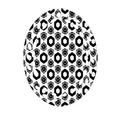 Background Pattern Oval Filigree Ornament (2 Side)