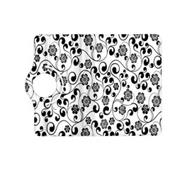 Black White Floral Kindle Fire Hd (2013) Flip 360 Case by AnjaniArt