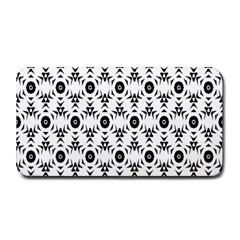 Black White Flower Medium Bar Mats by AnjaniArt