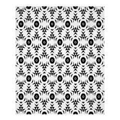 Black White Flower Shower Curtain 60  X 72  (medium)  by AnjaniArt