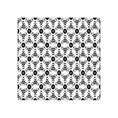 Black White Flower Acrylic Tangram Puzzle (4  X 4 ) by AnjaniArt