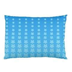 Blue Stars Background Line Pillow Case by AnjaniArt