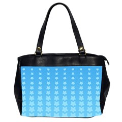Blue Stars Background Line Office Handbags (2 Sides)  by AnjaniArt