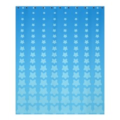 Blue Stars Background Line Shower Curtain 60  X 72  (medium)  by AnjaniArt