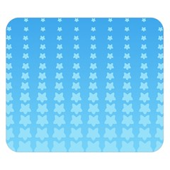 Blue Stars Background Line Double Sided Flano Blanket (small)  by AnjaniArt