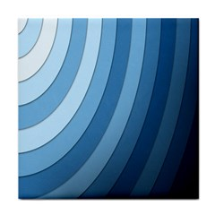 Blue Wave Tile Coasters