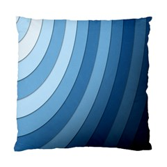 Blue Wave Standard Cushion Case (one Side) by AnjaniArt