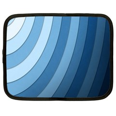 Blue Wave Netbook Case (xl)  by AnjaniArt