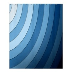 Blue Wave Shower Curtain 60  X 72  (medium)  by AnjaniArt