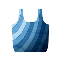 Blue Wave Full Print Recycle Bags (s)  by AnjaniArt