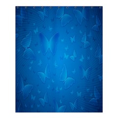 Butterflies Blue Butterfly Shower Curtain 60  X 72  (medium)  by AnjaniArt