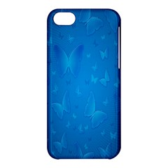 Butterflies Blue Butterfly Apple Iphone 5c Hardshell Case by AnjaniArt