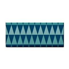 Blues Long Triangle Geometric Tribal Background Cosmetic Storage Cases by AnjaniArt