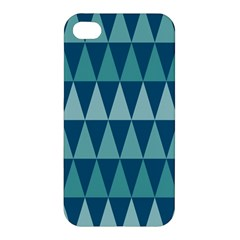 Blues Long Triangle Geometric Tribal Background Apple Iphone 4/4s Hardshell Case