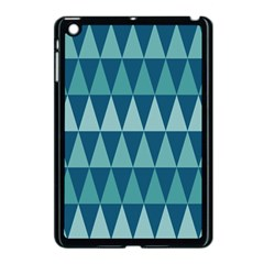Blues Long Triangle Geometric Tribal Background Apple Ipad Mini Case (black) by AnjaniArt