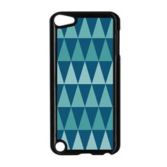 Blues Long Triangle Geometric Tribal Background Apple Ipod Touch 5 Case (black) by AnjaniArt