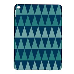 Blues Long Triangle Geometric Tribal Background Ipad Air 2 Hardshell Cases by AnjaniArt