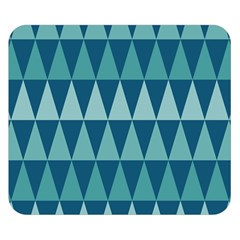 Blues Long Triangle Geometric Tribal Background Double Sided Flano Blanket (small)  by AnjaniArt