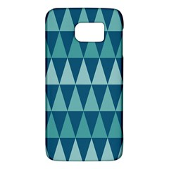 Blues Long Triangle Geometric Tribal Background Galaxy S6 by AnjaniArt