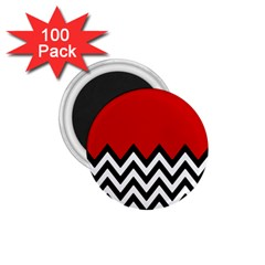 Chevron Red 1 75  Magnets (100 Pack)  by AnjaniArt