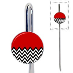 Chevron Red Book Mark by AnjaniArt