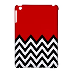 Chevron Red Apple Ipad Mini Hardshell Case (compatible With Smart Cover) by AnjaniArt