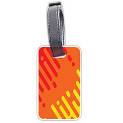 Color Minimalism Red Yellow Luggage Tags (two Sides) by AnjaniArt