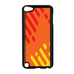 Color Minimalism Red Yellow Apple Ipod Touch 5 Case (black) by AnjaniArt