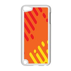 Color Minimalism Red Yellow Apple Ipod Touch 5 Case (white) by AnjaniArt