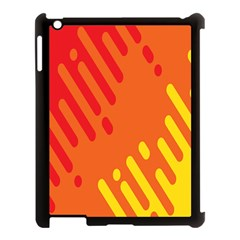 Color Minimalism Red Yellow Apple Ipad 3/4 Case (black) by AnjaniArt